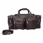 Piel Leather 60cm Duffel Bag with Pockets