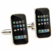 SCORPIUS GIFTS ' Mobile Phone ' Theme Stainless Steel Cufflinks In Free Gift Bag