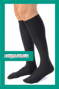 Knee Length Anti Embolism Medical Compression Socks - MEDIUM - BLACK 18-24mmHg