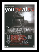 You Me At Six Autographed Signed And Framed A4 21cm x 29.7cm Poster Photo