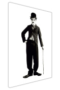 ICONIC CHARLIE CHAPLIN POSTER ON FRAMED CANVAS WALL ART PRINTS BLACK AND WHITE PICTURES SIZE