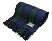 Classic Wool Blanket in Black Watch Tartan