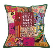 Indian Cushion Patchwork Multicolour Pillow Case Kutch Sofa Cushion Covers 17 X 17