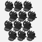 TOOGOO(R) 12 Pcs Black Plastic Mini Hairpin 6 Claws Hair Clip Clamp for Ladies