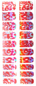 Fashion Metallic Nail Foils, Pack of 20 wraps, Red Silver Abstract