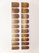 Animal Print Nail Foils, Pack of 20 wraps, Gold Metallic Jaguar