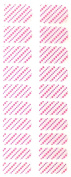 Bling Nail Foils, Pack of 20 wraps, Pink Purple Diagonal