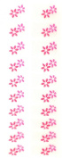 Bling Nail Foils, Pack of 20 wraps, Pink Jewelled Flowers