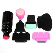 Double Ended Stamper Scraper Nail Art Stamping Plate Tool Set