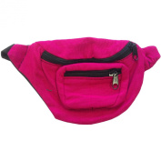 Magenta Fanny Pack Bag Rave Club Bum Bag Festival 3 Pocket Adjustable Strap