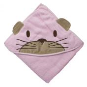 Pippi Baby Girls Hooded Towel W.Catface Scarf