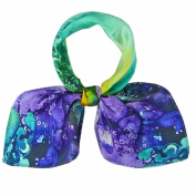 High-gradel Painting Small Squares Female Silk Scarves,Purple & Green