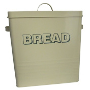 LARGE BREAD STORAGE TIN ENAMEL RETRO CONTAINER WITH LID HANDLES KITCHEN BIN BOX