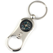 Maycom Creative Polished Silver Beer Bottle Opener Compass Keychain Key Chain Ring Keyring Keyfob 86086
