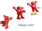 SHENNOSI® Happy Man Sir Perky Novelty Bottle Stopper + Bottle Opener + Beer Corkscrew Set