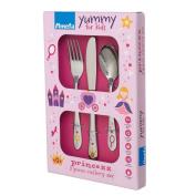 Amefa Stainless Steel Kids Princess Cutlery Set, Set of 3