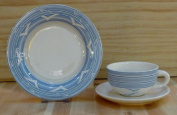 5116 --- Tea Cup with Saucer Blue Heaven Ceramic
