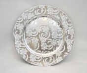 Charger Plate in a vintage silver patterned finish