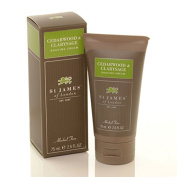 Cedarwood and Clarysage Travel Shave Cream 70ml shave cream by St. James of London