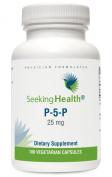 P-5-P | Pyridoxal 1.5m-Phosphate | 25 mg | Active Vitamin B6 Supplement | 100 Vegetarian Capsules | Seeking Health | Physician Formulated