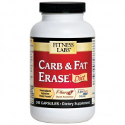 Fitness Labs Carb & Fat Erase Diet, 240 Capsules