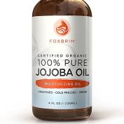 BEST Organic Jojoba Oil - EcoCert & USDA Certified - 100% Pure Premium Moisturising Oil - Natural Moisturiser for Face, Skin, Hair & Nails - Exceptional for Sensitive & Dry Skin - Even Skin Tone To Prevent Acne And Excess Oil - Abundant in Key Nutrient ..