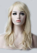 S-noilite Layered Hair Wigs Full Head Bleach Blonde Wig