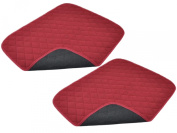Pack of 2 Chair Protector Pads - Burgundy