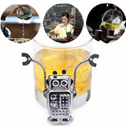 Tea Ball Strainer Robot Hanging Tea Leaf Diffuser Infuser Stainless Strainer Herbal Spice Filter Tea Infuser Stainless