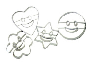 Cartoon Smile Face Stainless Steel DIY Fruit Slicers Cookie Cutter,4Pcs