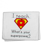 TooLoud I Teach - What's Your Superpower 28cm x 46cm Dish Fingertip Towel