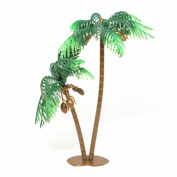 Large Palm Tree with Coconuts Cake Topper (4 Count) - 13cm Tall