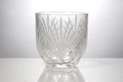Crystal Ice Bucket with Frosted Cuts-Mouth Blown