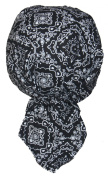 Set of 4 Black Paisley Food Service Skull Cap Head Wrap Do-rag Chef Cook Medical Field