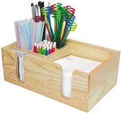 Co-Rect Wood Bar Caddy with Rectangular Design, Blonde