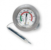 Cooper-Atkins 6142-58-3 Vapour Tension Panel Thermometer with Front Flange, NSF certified, 50cm Capillary Length, -40/60°F Temperature Range