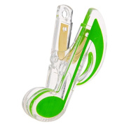 GREEN Music Book Clips Plastic Lovely Style Piano Note Clips Deluxe