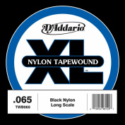 D'Addario TWB065 Nylon Tape Wound Bass Guitar Single String, .065