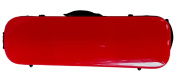 Tonareli Violin Oblong Fibreglass Case- Sweet Cherry Red 4/4