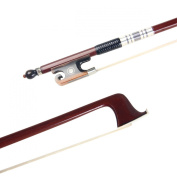 Brazil Sandalwood Baroque Style Violin Bow 4/4 ox horn frog Silver Plated