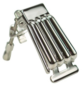 Golden Gate Clamshell Style Banjo Tailpiece - Nickel-Plated Brass