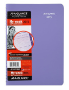 AT-A-GLANCE Beautiful Day Premium Desk Weekly and Monthly Appointment Book 2015, Wirebound, 12cm x 20cm Page Size, Lavender