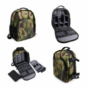 DURAGADGET Premium Quality, Camouflage Water-Resistant Rucksack / Backpack with Customizable Interior & Raincover for the NEW Sony DSC-WX500 Compact Camera with 30x Optical Zoom