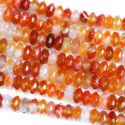 Faceted Natural Red Agate Rondelle 4*8mm Gemstone Jewellery Making Loose Beads
