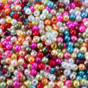Charisma 3mm Tiny Satin Lustre Mix Colour Faux Pearl Round Craft Loose Beads for Jewellery Making Table Scatter Weddings Embellishing 1000pcs