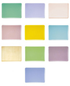 Jewellers Special Transparent Sampler Pack, Pre-Cut Fusible Glass Shapes, 2.5cm Square, 90 COE, 10-Pack