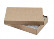 25 Kraft Charm Jewellery Box Gift Display Case 14cm x 9.8cm x 2.5cm