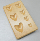 HEART SHAPE WOOD DAPPING BLOCK jewellery METAL WOODEN FORMING SHAPING TOOL 7 SIZES
