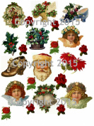 Victorian Vintage Christmas 101 Printed Collage Sheet 22cm x 28cm