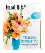 Terial Arts Hibiscus Fabric Flower Bouquet Kit